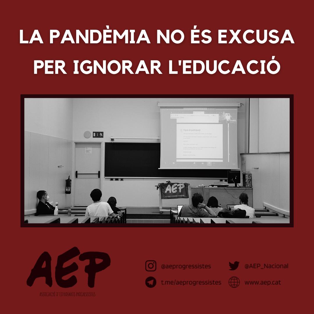 La pandèmia no és una excusa per ignorar l'educació