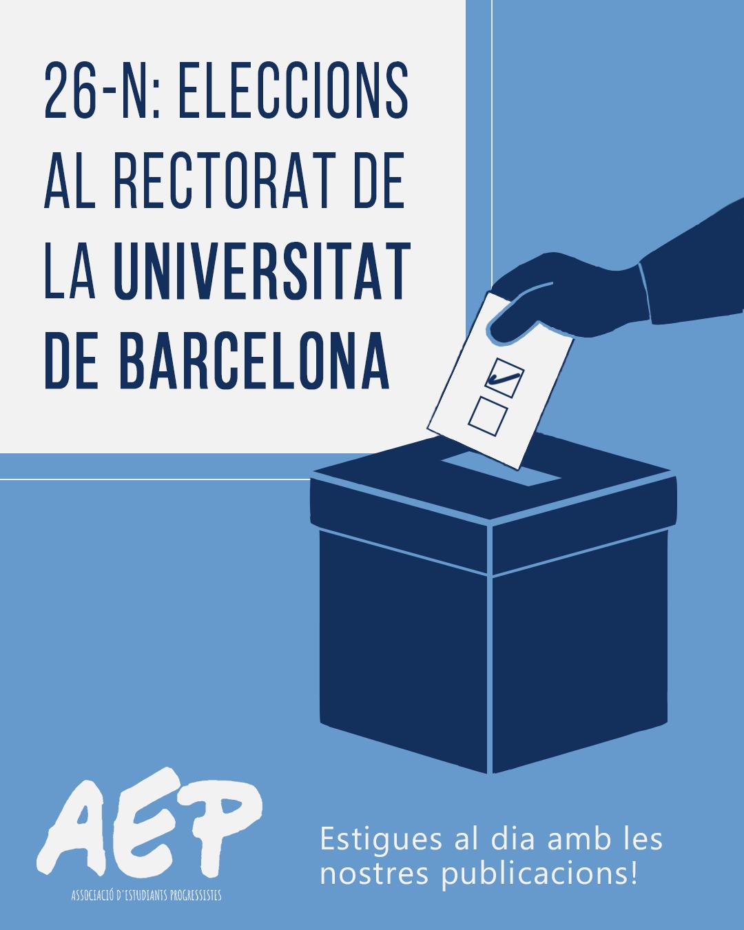 Eleccions al Rectorat de la UB