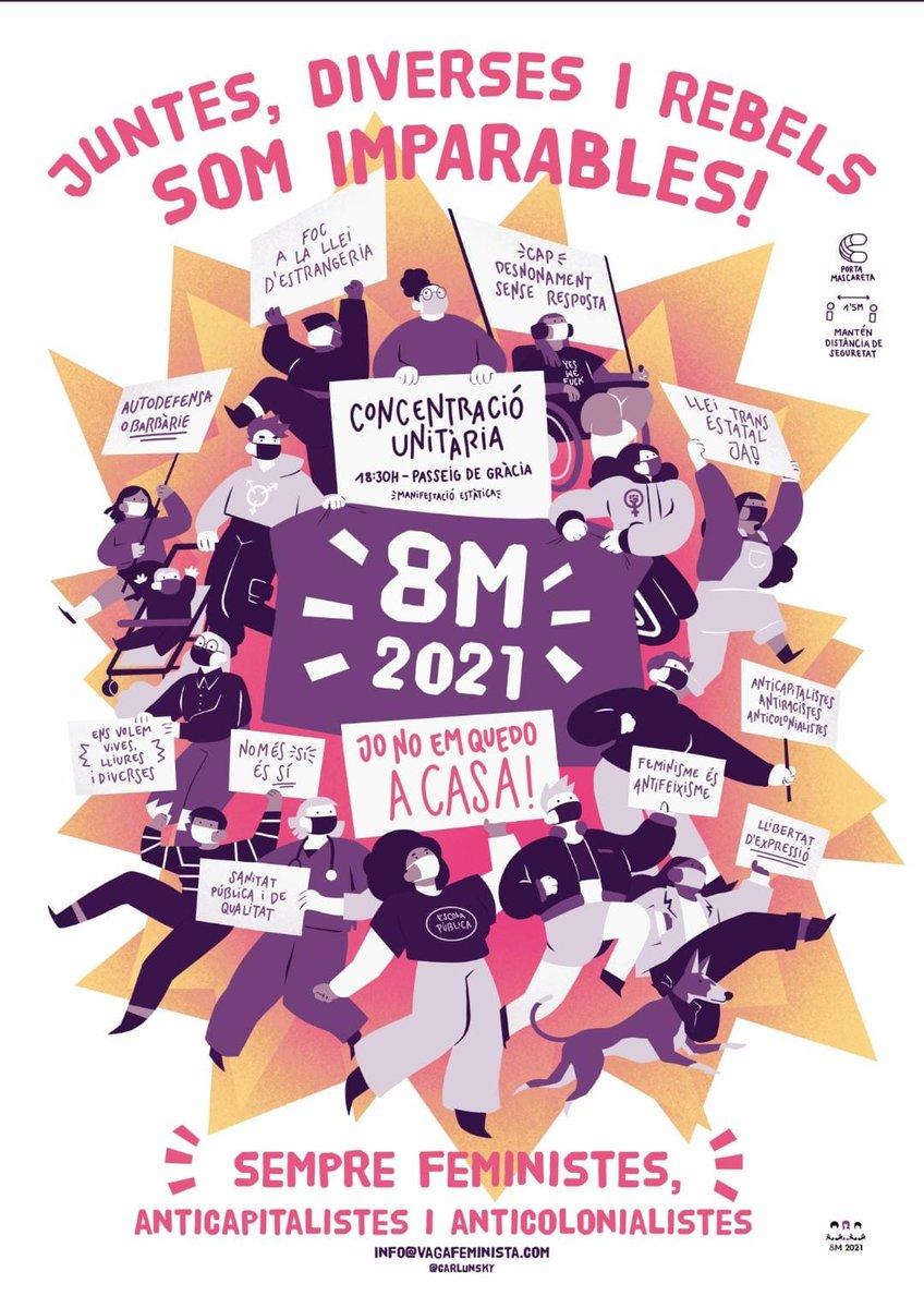 La pandèmia no ens atura: aquest 8M no ens quedarem a casa!